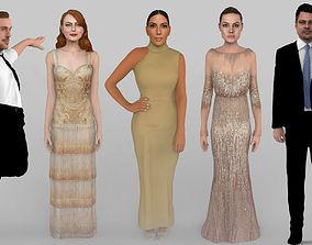 Celebrities Pack Jolie Pitt Stone Gosling Kardashian 3D
