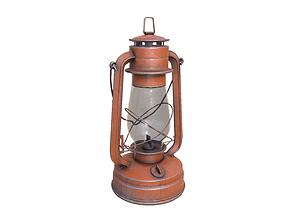 3D asset vintage oil lamp light pack