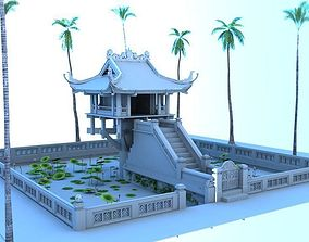 3D model One Pillar Pagoda HaNoi Vietnamese