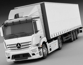 3D Mercedes Antos with trailer