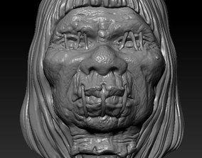 3D printable model Shrunken Head Pendant