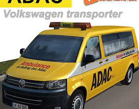Volkswagen transporter ADAC 3D model
