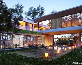 3D model CONCRETE BLOCK HOUSE