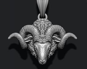 3D printable model Mountain sheep ram pendant