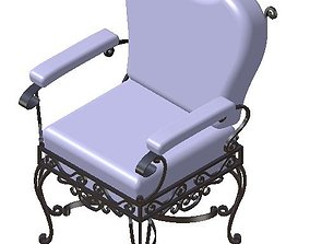 Armchair forged metal 3D model