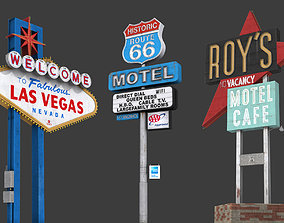 Road Signs Pack 3D