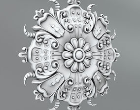 Carved Rosettes Medallions cartouche architectural 3D model