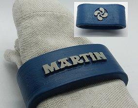 3D print model MARTIN Napkin Ring with lauburu