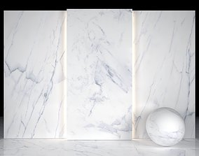 3D asset antique Carrara White 03