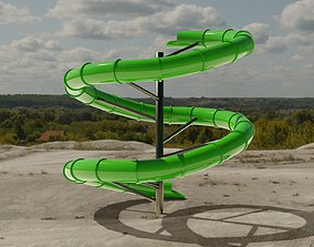 Water Slide 3D asset low-poly