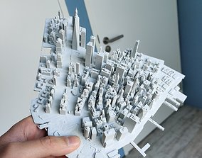 Lower Manhattan NYC 3D print part and Empire State