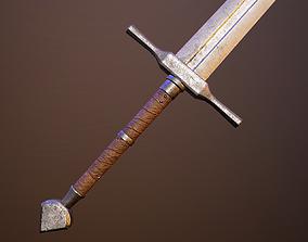 Medieval double-handed swords pack 3D asset realtime