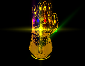 Infinity Gauntlet 3D High Poly Model human