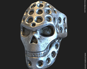 3D print model Biker skull vol16 ring jewelry