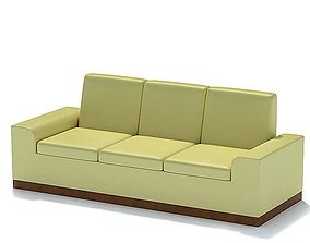 3D model Ivory Leather Couch