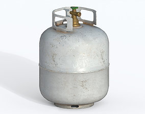 Propane Tank container 3D model low-poly