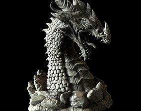 Dragon Bust 3D print model