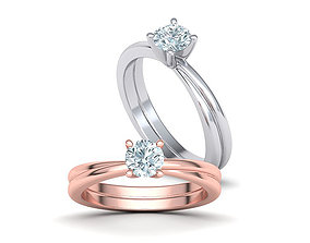 Crossover Engagement ring with 5mm stone