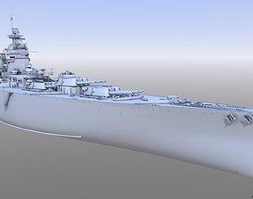 3D model BATTLESHIP HMS RODNEY wwi
