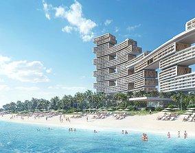 Luxury hotel building 1 3D city
