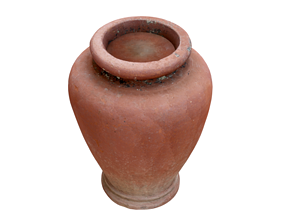 low-poly 3D Scanned Clay Pot