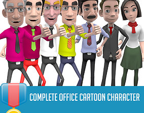 Complete character Office 3D asset