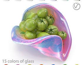 3D asset Green tomatoes in a designer salad bowl - 15 2