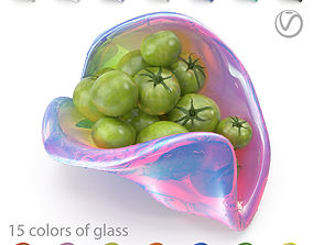 3D asset Green tomatoes in a designer salad bowl - 15 2