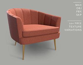 Elegant Modern Armchair - A004 3D