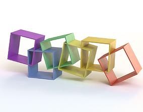 Creative Book Shelf 3D asset