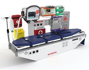 3D Air Ambulance Module with Equipment