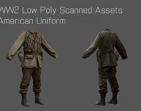 US American Uniform WW2 Photogrammetry Based 3D realtime