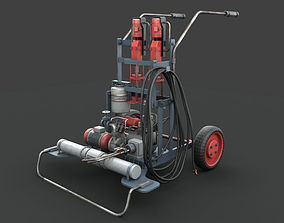 3D PBR Portable machinery device