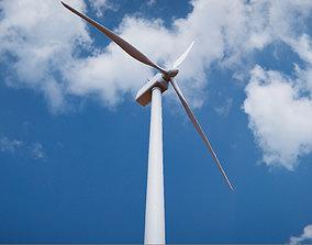 3D asset Low Poly PBR Wind Turbine