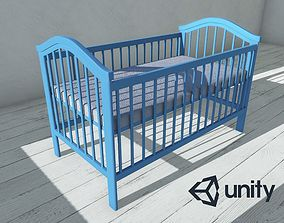 3D asset low-poly Enlight Baby Bed 01