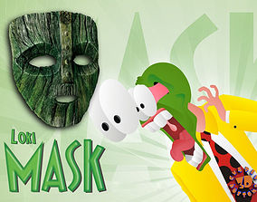 Loki Mask from the Movie The Mask Staring 3D print model 1