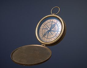 Old Compass game-ready asset 3D model