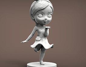 present anime girl 3D print model