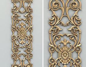 panel Carved decor vertical 014 3D model