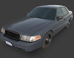 3D asset Generic Sedan