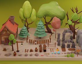 Low Poly Fantasy Forest Pack Vol 2 3D model