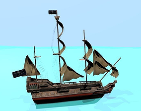 Pirate ship The Walrus 3D model
