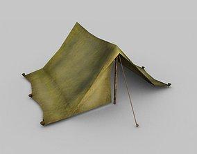 3D model Low poly tent