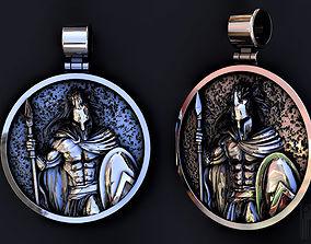 pendant king Leonid Spartan 3D print model spartan