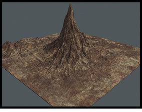 Mountain 3D asset low-poly PBR