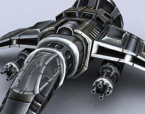 3DRT - Sci-Fi Gunship 4 realtime
