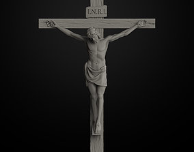 art JESUS ON THE CROSS 3D print model