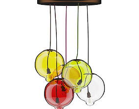3D Colored Glass Ceiling Lamp