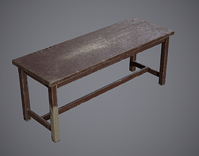 Bench Painted 3D model