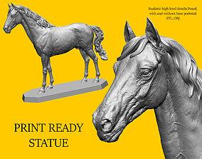 Horse print ready model